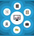 flat icon incoming set of strongbox diagram vector image vector image