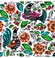 Folk painting seamless vector image vector image