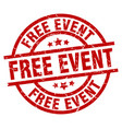 free event round red grunge stamp vector image