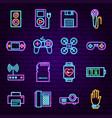 gadget neon icons vector image