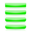 green menu buttons rectangle and oval 3d shiny vector image vector image