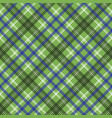 green tartan check plaid seamless pixel pattern vector image
