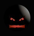 halloween evil face with a toothy maw Right vector image vector image