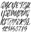 hand drawn font modern dry brush lettering vector image vector image