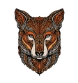 Hand drawn fox Ethnic patterns vector image vector image