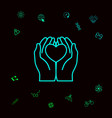 hands holding heart - protection icon graphic vector image vector image