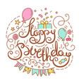 happy birthday text vector image