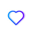 heart blue purple gradient icon love symbol vector image vector image