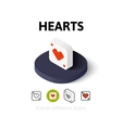 Hearts icon in different style vector image vector image