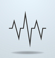 Icon of cardiogram ECG vector image
