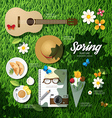 Infographic travel planning a spring vacation vector image