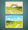 Landscapes vector image