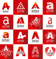 large set of logos letter A vector image vector image
