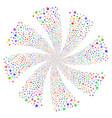 lock fireworks swirl flower vector image vector image