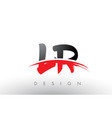 lr l r brush logo letters with red and black vector image vector image