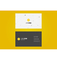 Minimal Business Card Design vector image