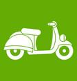 motorbike icon green vector image vector image