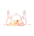 muslim people fasting vector image