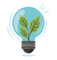 plant into a light bulb vector image vector image