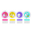 plastic surgery center service infographic vector image vector image
