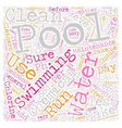 Pool Maintenance And Care text background vector image vector image