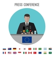 Press conference icon vector image vector image