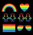 rainbow glasses heart sunglasses flag girl boy vector image vector image