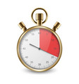 realistic metal golden classic stopwatch icon vector image