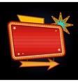 Retro motel sign with copyspace vector image vector image