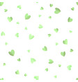 seamless pattern background with green hearts vector image vector image