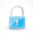 secure padlock vector image