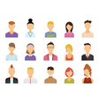 set avatar color icons vector image