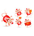 set cheerful rats rat is a symbol new year vector image vector image