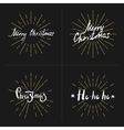 Set hand lettering and calligraphy vector image