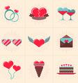 Set of St Valentines Day Design Elements Love vector image vector image