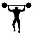 silhouette strongman dressed in old way vector image