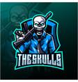 skulls esport mascot logo design vector image