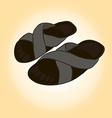 slippers for relaxing and easy walks on the beach vector image vector image