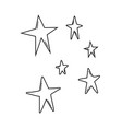stars colorful cartoons in black and white vector image