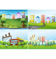 Town scenes vector image vector image