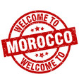 welcome to morocco red stamp vector image vector image