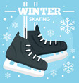 winter skating concept background flat style vector image