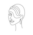 woman face on white background vector image vector image