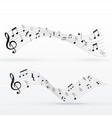 musical notes wave background design vector image