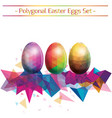set of colorful ester eggs vector image