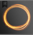 gold circle light effect on transparent background vector image