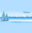 abstract winter landscape vector image vector image