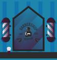 barbershop for banner sign vector image vector image