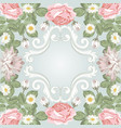 beautiful floral frame template for your text or vector image vector image