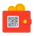 Bitcoin Wallet Icon vector image